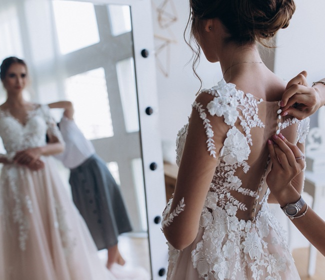 Wedding dress alterations in Leeds